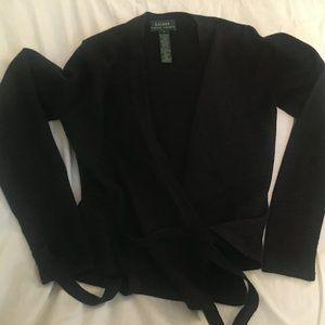 Vintage Lauren Ralph Lauren Black Metallic Sweater